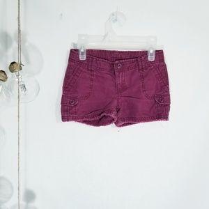 Girls GapKids Maroon Shorts Size 7 Regular